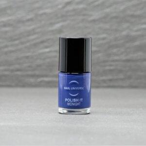 Nagellackflasche mit Nagellackfüllung in Midnight Blau