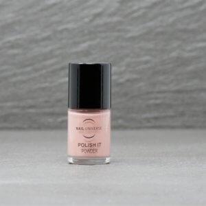 Nagellackflasche mit Nagellackfüllung in Powder rosa